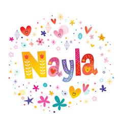 Nayla girls name vector