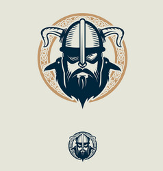 Odin and his ravens insignia vector