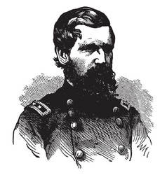 Oliver otis howard during the civil war vintage vector