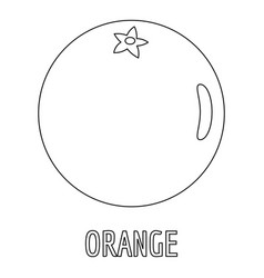 orange icon outline style vector image