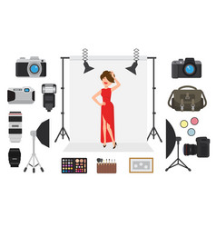 photography photographing model character vector image