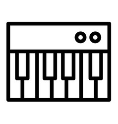 Piano toy line icon keyboard vector