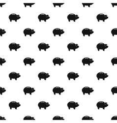 Piggy bank pattern simple style vector image vector image