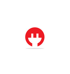 Power plug electric logo vector