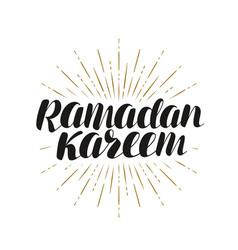 Ramadan kareem greeting card lettering vector