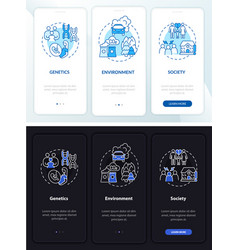 Risk factors for adhd onboarding mobile app page vector