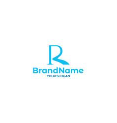 River r logo design vector