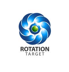 Rotation target icon logo concept design symbol vector