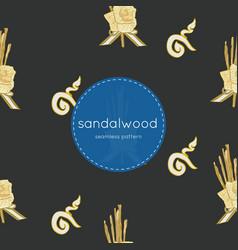 Sandalwood flower for king seamless pattern vector