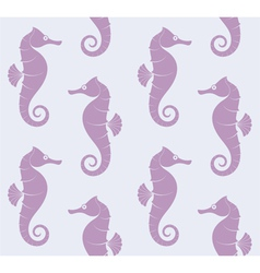 Sea Horse Pattern vector image