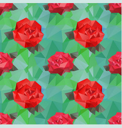 seamless background with geometric flower vector image vector image