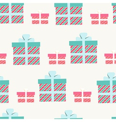 Seamless pattern of gifts and presents vector image vector image