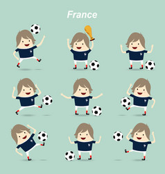 set character actions france national football vector image
