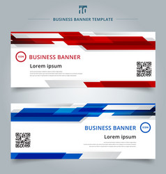 Set of abstract template technology web banner vector