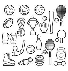 set sport icons vector image