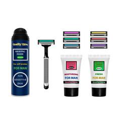 shaving kit shaving set vector image