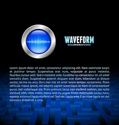 Silver button with sound wave sign over the maze vector image
