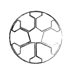 sketch draw soccer ball cartoon vector image