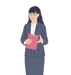 Speaking business woman flat vector