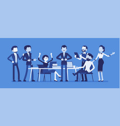 Successful team gathering vector
