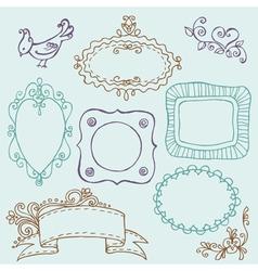 sweet doodle frames vector image
