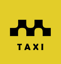 Taxi logo sign squares with smooth connections vector