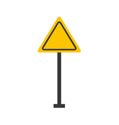 traffic signal warning caution attention blank vector image