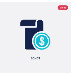 Two color bonds icon from cryptocurrency economy vector