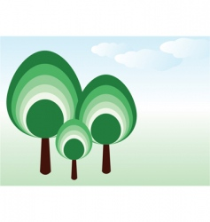 vector tree family vector image