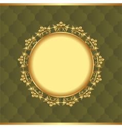 Vintage background with golden frame vector