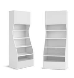 White pos display stand for supermarket products vector