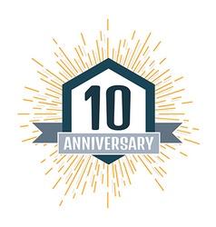 Anniversary 10 vector image
