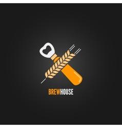 beer concept design background vector image