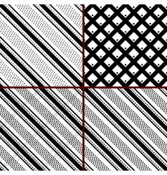 black and white striped patterns vector image vector image