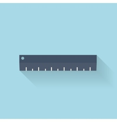 Flat ruler icon vector image
