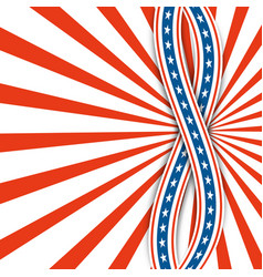 red and white raysabstract background usa vector image