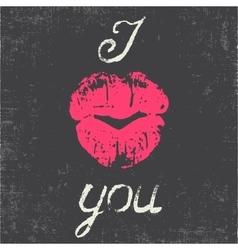 Romantic typography poster vector image
