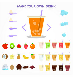 bubble drink juice creator for apps design vector image vector image