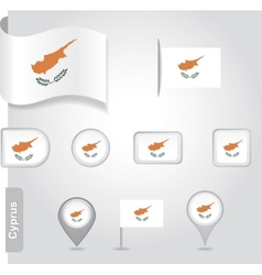 Cyprus icon set of flags vector image