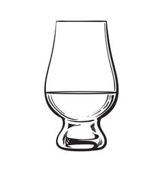 Scotch whiskey rum brandy nosing glass vector image vector image