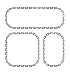 black chain frame vector image