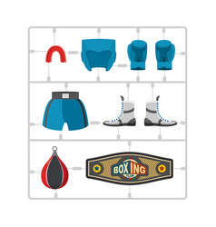 boxing set plastic model kit collection champion vector image vector image