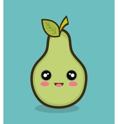 cartoon pear fruit design vector image