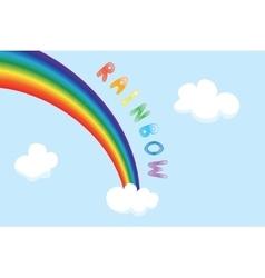 cartoon rainbow vector image vector image