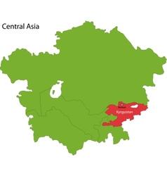 Kyrgyzstan map vector image