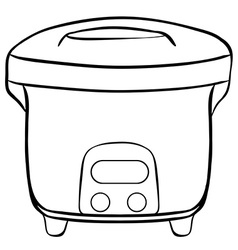 Rice cooker vector image vector image