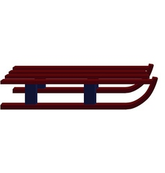 Winter wooden sled vector image