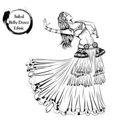 dance line tribal belly dance vector image vector image