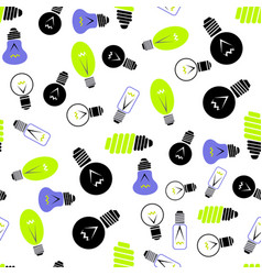 electric lamp seamless pattern vector image