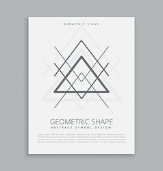 geometric hipster symbol vector image